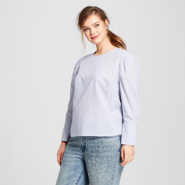 Plus Size Long Sleeve Bubble Top