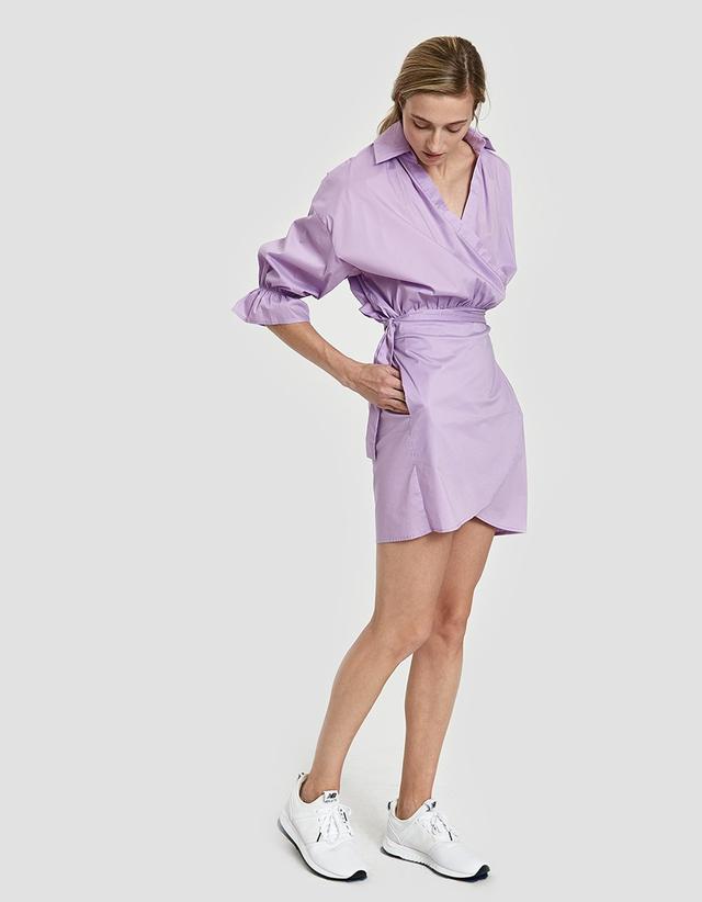 Farrow Lena Wrap Dress in Lilac