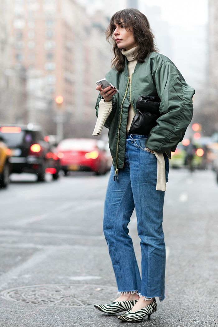 See The Bomber Jacket Outfits We Love Who What Wear