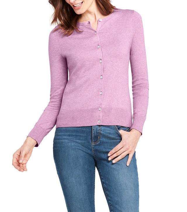Lands' End Petite Supima Cotton Cardigan Sweater