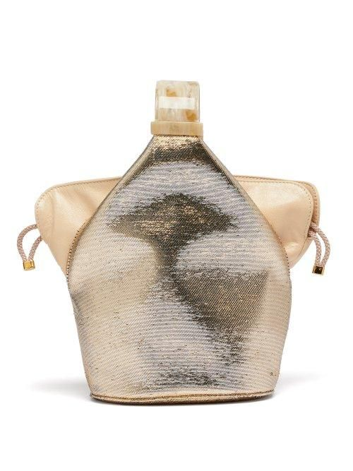 Bienen-Davis Kit Metallic Canvas Clutch