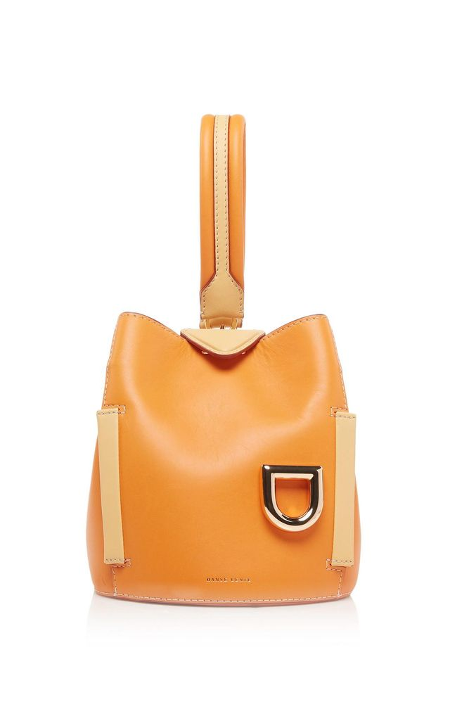 Danse Lente Two-Tone Leather Josh Bucket Bag