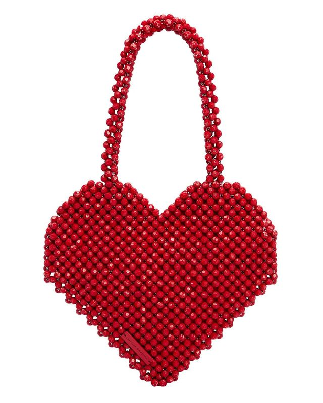 Loeffler Randall Maria Beaded Heart Bag