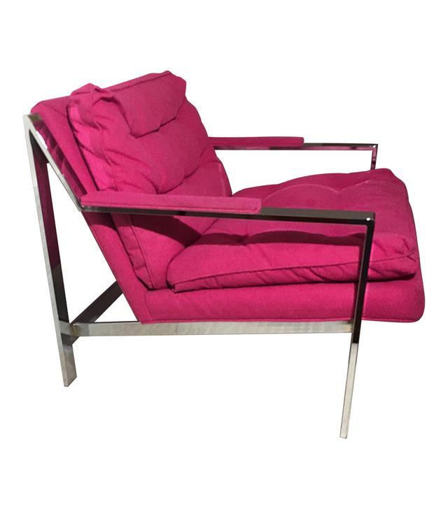 Cy Mann Fuchsia Lounge Chair