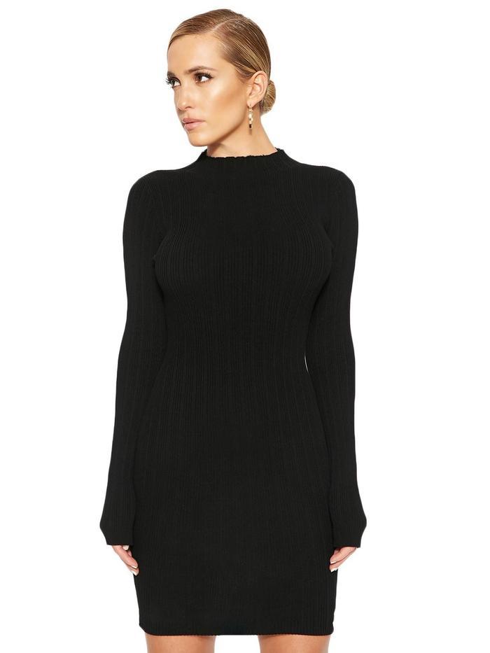 Celebrity Style—Khloé Kardashian in a $40 Black Dress ...