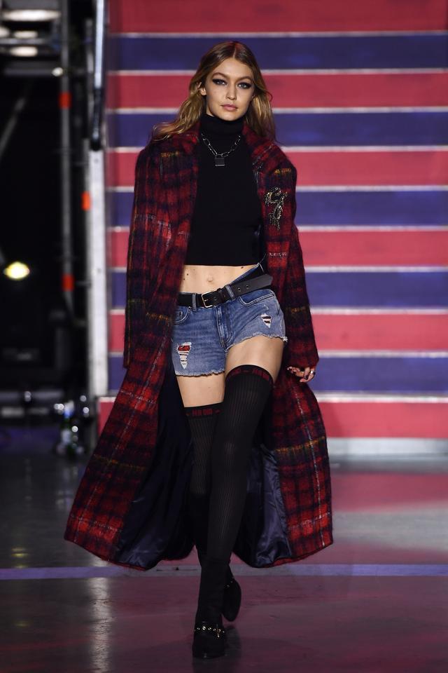 Gigi Hadid walking for Tommy Hilfiger