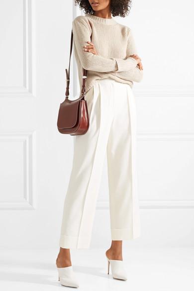 Lian Pleated Wool-blend Wide-leg Pants