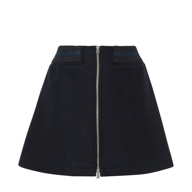 Charlotte Metallic-trimmed Wool-blend Mini Skirt
