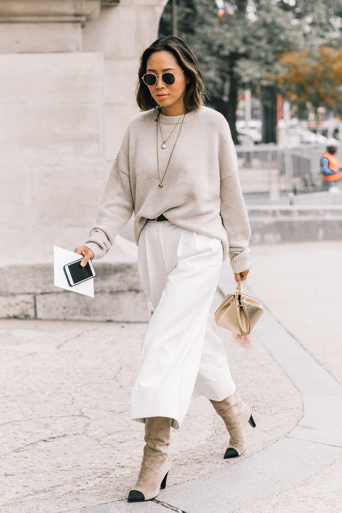 13 Cool Ways To Wear Cropped Pants With Booties Who What Wear