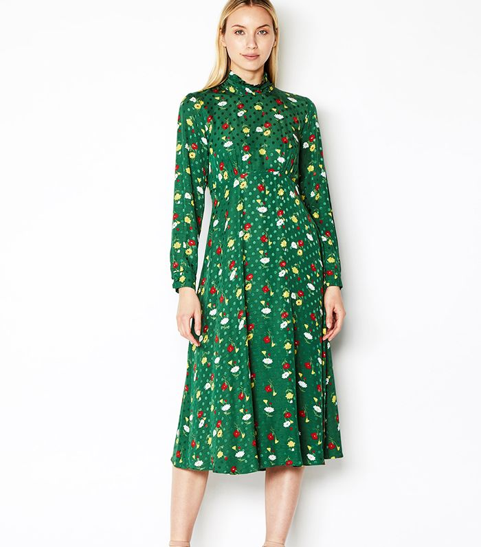 80b38f1341293 ASOS's Green Pleated Maxi Dress Is So Popular Already | Who What Wear