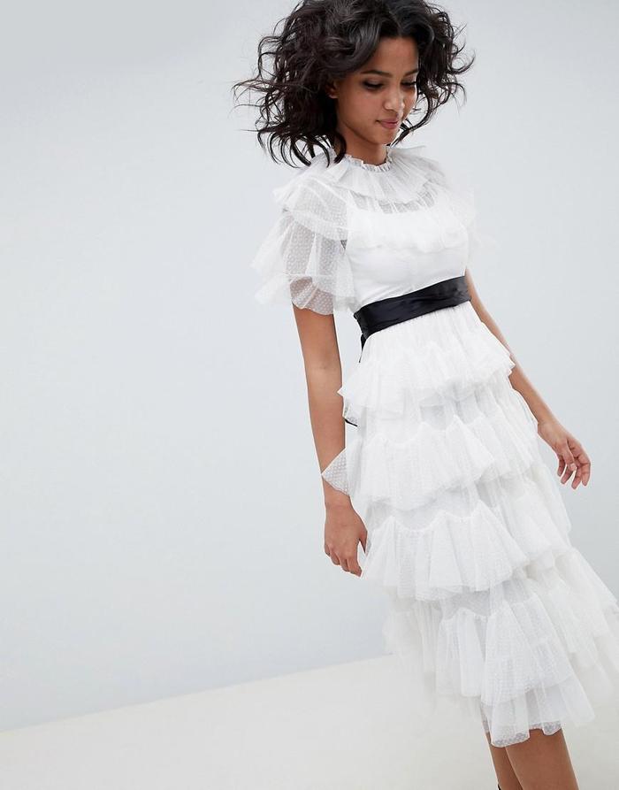 White Dress for Rehearsal Dinner