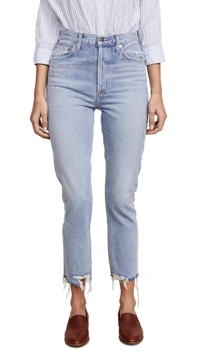 Riley High Rise Straight Crop Jeans