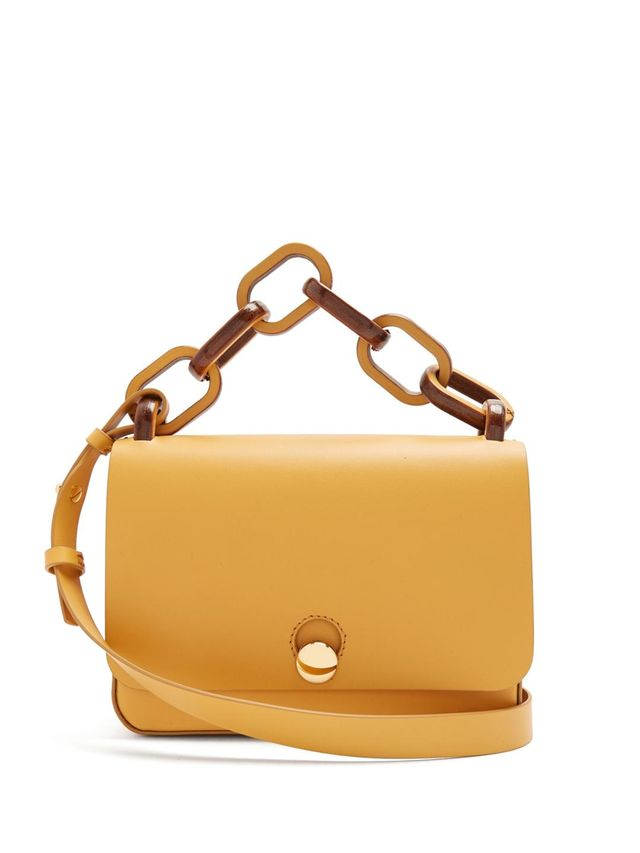 The Spring small leather saddle bag