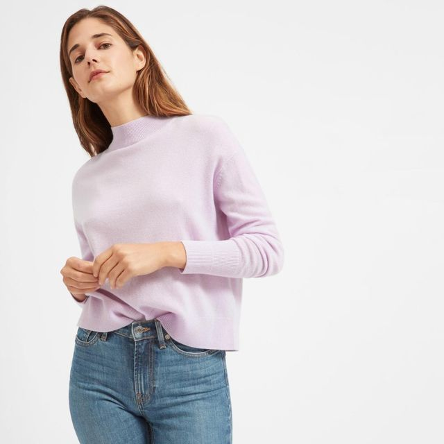 Women's Cashmere Crop Mockneck Sweater by Everlane in Lavender, Size M
