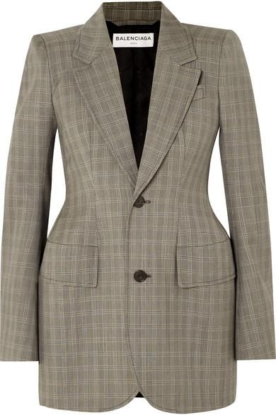 Checked Wool And Mohair-blend Blazer