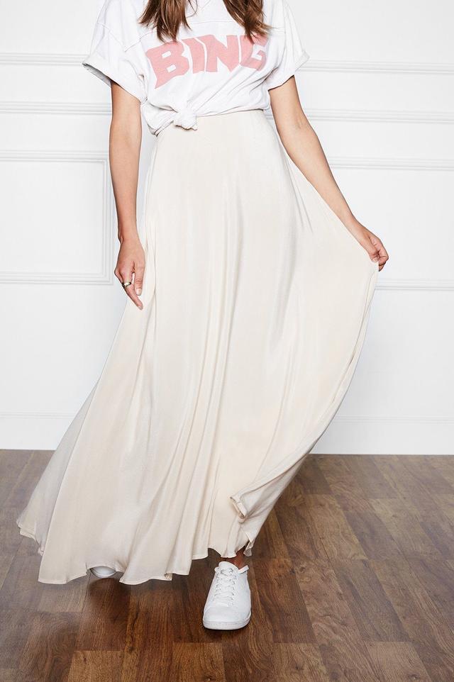 Anine Bing Silk Maxi Skirt