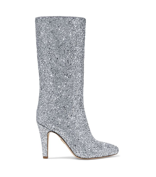 Elevator Glittered Leather Boots