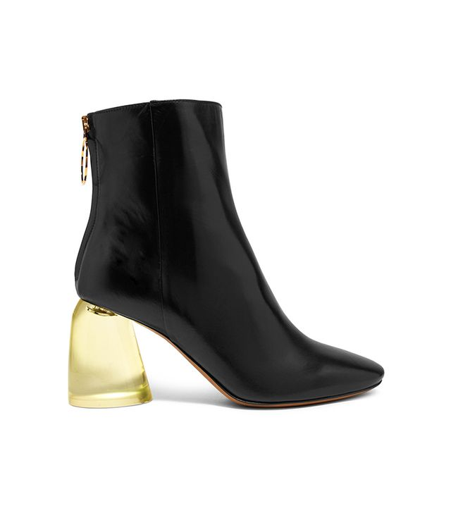 Leather And Perspex Ankle Boots