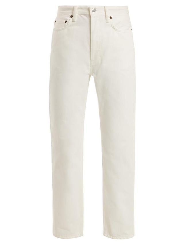 Log straight-leg boyfriend jeans