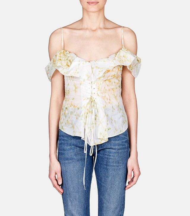 Brock Collection Tyler Lace-Up Top