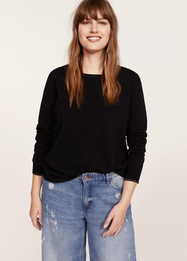 Lurex details sweater