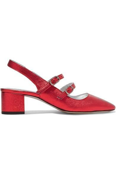 Textured-leather Pumps