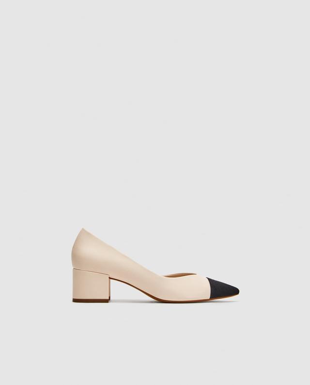 Zara Pointed Mid-Heel Court Shoe