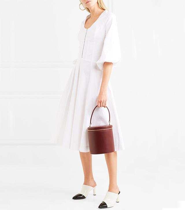 Eden Stretch-cotton Poplin Midi Dress