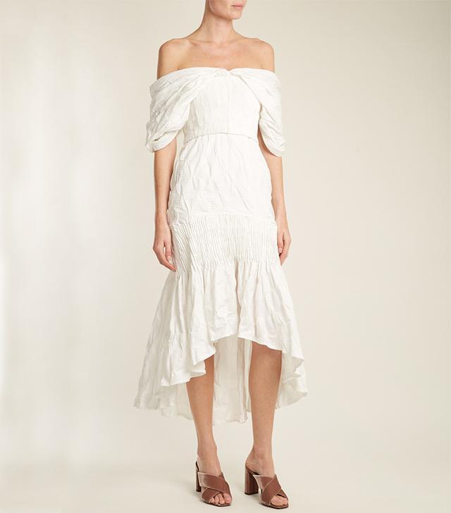 Smocked off-shoulder dress