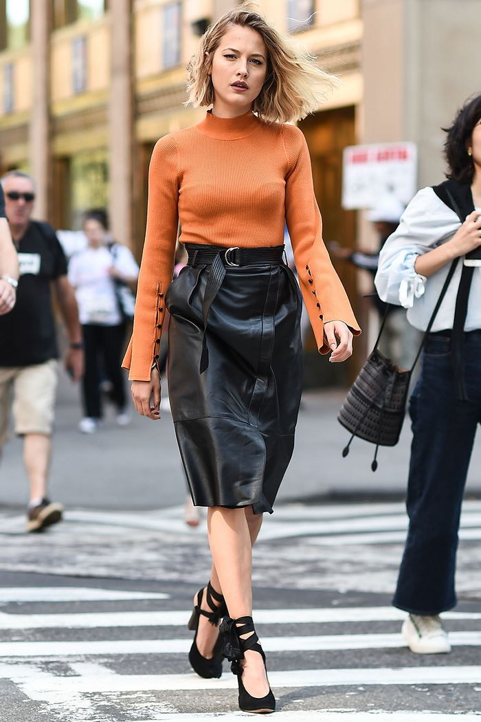 See Our Favorite Black Pencil Skirt Outfits Who What Wear