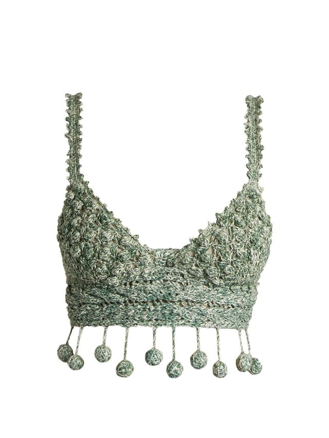 Carmen Miranda crochet cropped top
