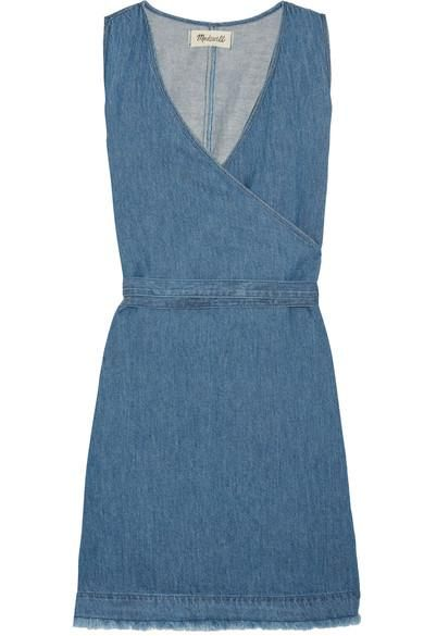 Frayed Cotton And Linen-blend Wrap Mini Dress