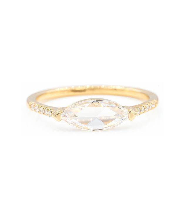 Everett Rose Cut Marquise Diamond Ring
