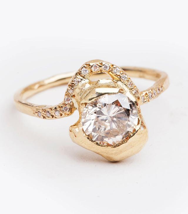 Blair Lauren Brown Round White Diamond Ring