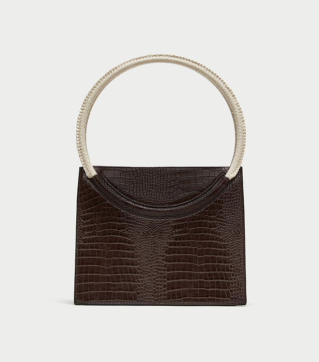Zara Embossed City Bag