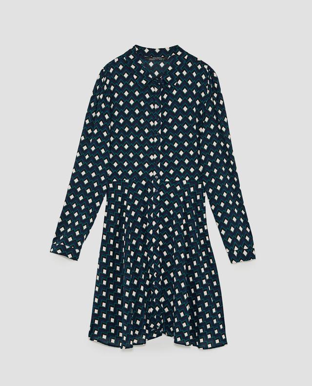 Zara Geometric Print Mini Dress
