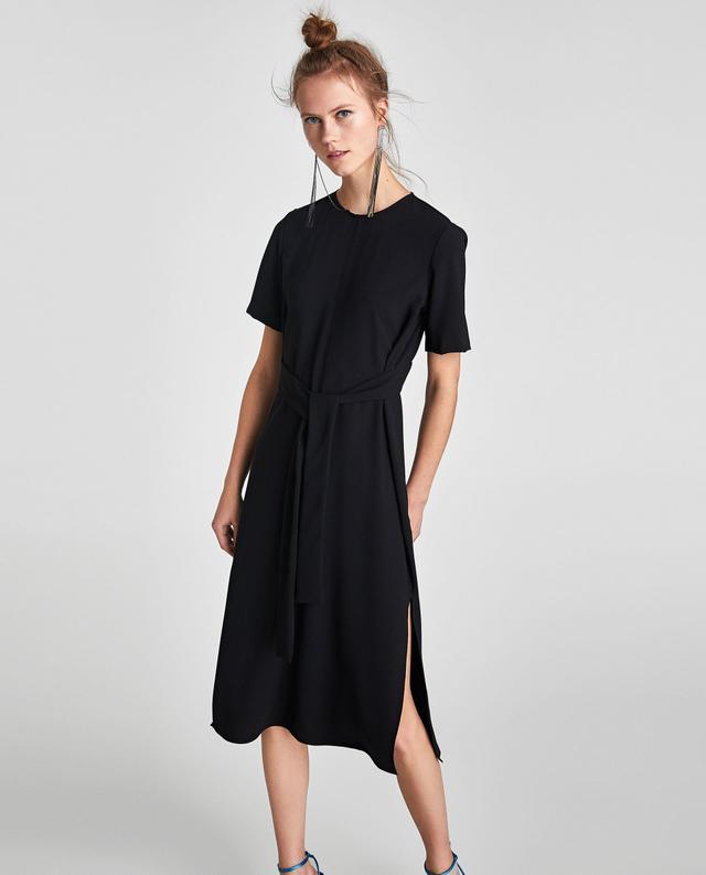 Zara Midi Dress With Bow