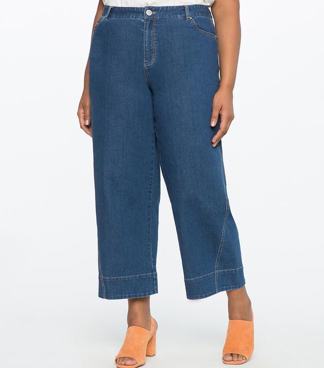 Eloquii Wide Leg Cropped Jeans