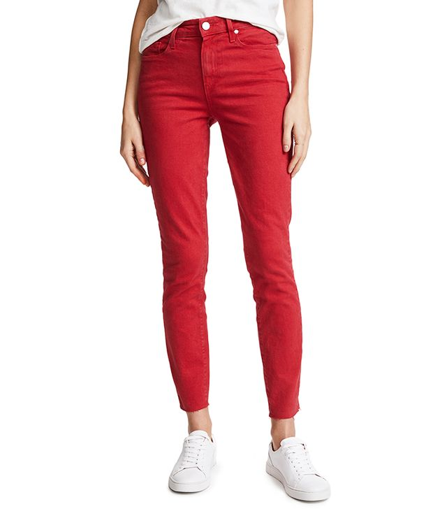 Hoxton Ankle Skinny Jeans with Raw Hem
