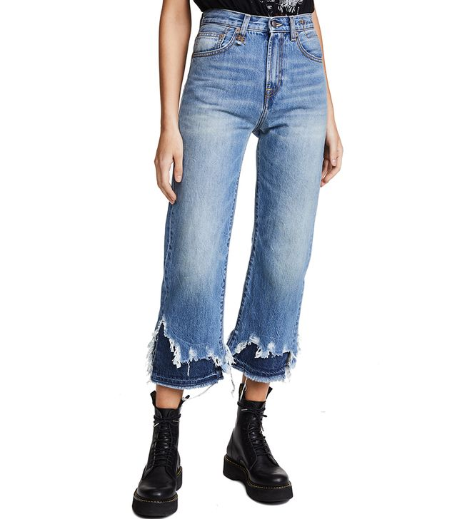 High Rise Camile Double Shredded Jeans