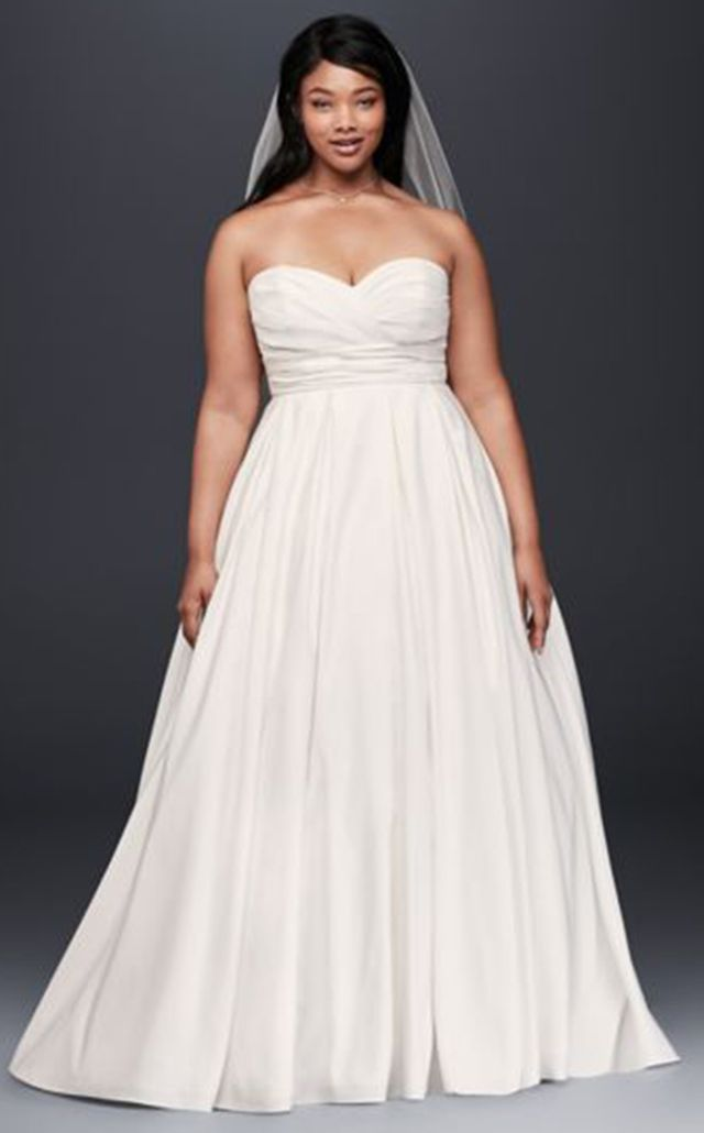 David's Bridal Faille Empire Waist Dress