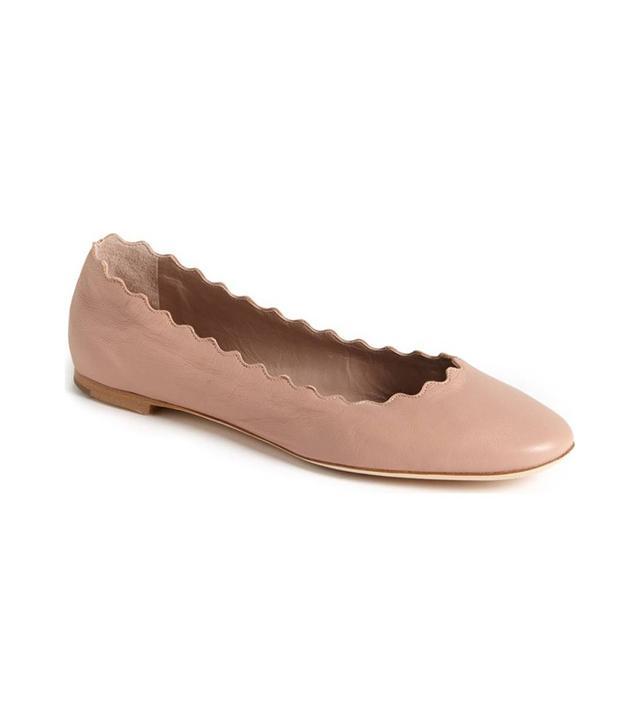 'Lauren' Scalloped Ballet Flat