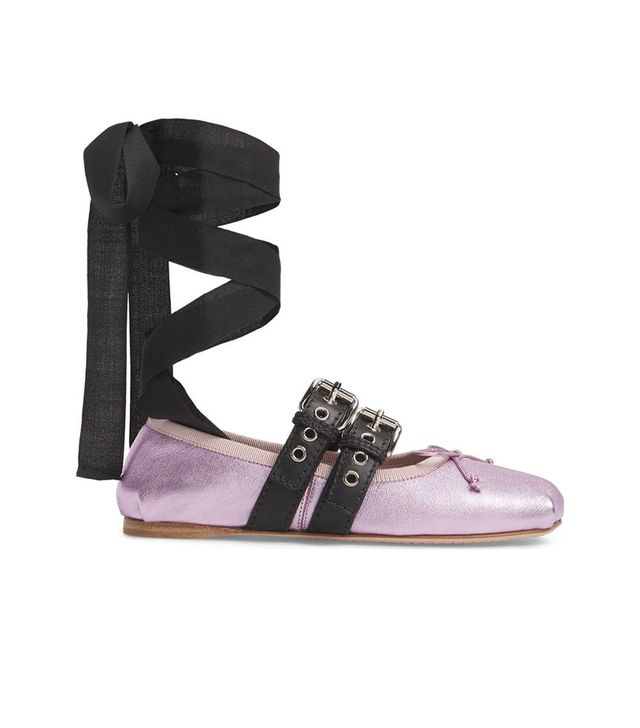 Lace-Up Ballerina Flat