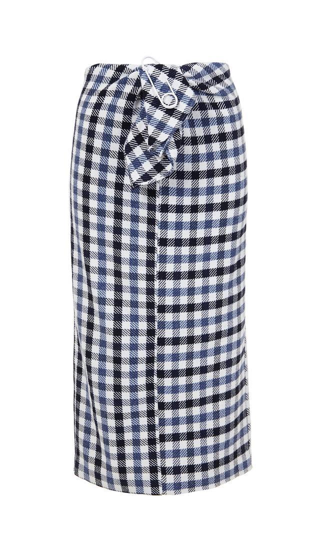 Fairfax Gingham Tie Front Skirt