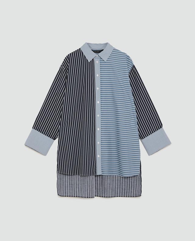 Zara Contrasting Striped Tunic