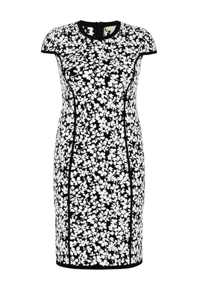 Michael Kors Collection Floral Jacquard Sheath Dress