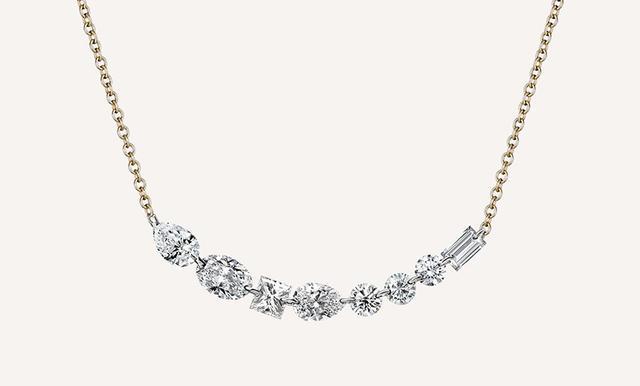 Ilana Ariel Long Floating Diamonds Necklace