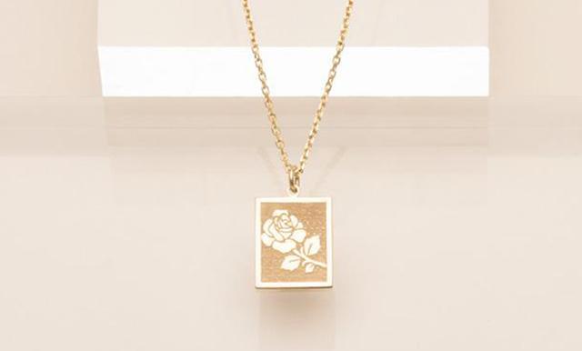 Vrai & Oro Rose Pendant Necklace