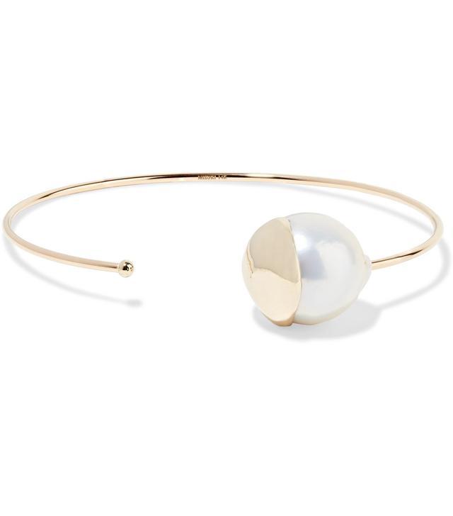 14-karat Gold Pearl Cuff