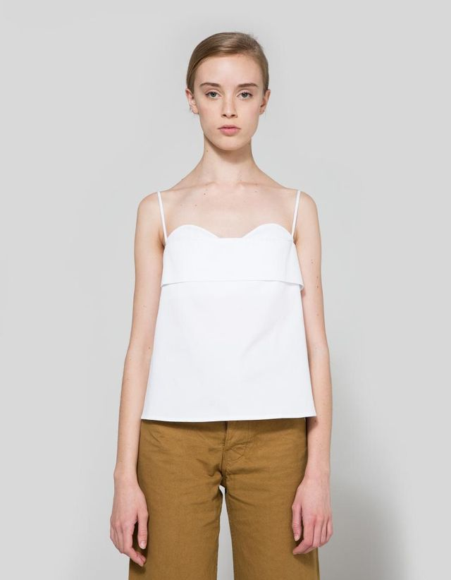 Toint Volant Valentine Top in White